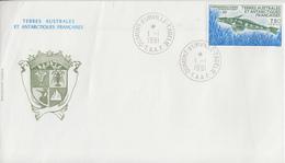 Enveloppe   FDC   1er  Jour   T.A.A.F   Poisson  Des  Glaces   1991 - FDC