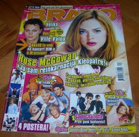 Ville Valo Rose McGowan US5 J.Lo -  BRAVO Serbian August 2006 VERY RARE - Magazines