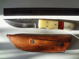 Messer, Damastmesser, Bowiemesser, Jagdmesser, 274 Lagen Stahl, Neu, NP 80€ - Messer