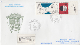 Enveloppe   Recommandée   FDC   1er  Jour   T.A.A.F   Oeuvre  De  TREMOIS   1985 - FDC