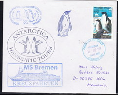 """ANTARCTIC,Germany/Chile, MS""""BREMEN"""" Visit Base E.FREI 1996, 4 Cachets !! 11.4-56 - Stamps"""