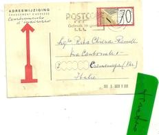 ADRESWIJZIGING   C. 70  X   VARESE - Postal Stationery