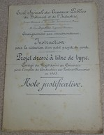 Dossier - école Spéciale Des Travaux Publics - Léon Eyrolles - Pont En Maçonnerie De 3 M D'ouverture Dessins - Travaux Publics