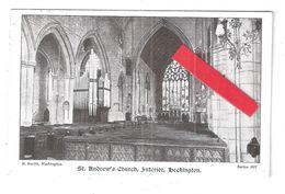 HECKINGTON SQUARE CIRCLE POSTMARK ST. ANDREW'S CHURCH INTERIOR BY B SMITH - England