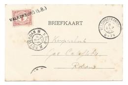 Nederland 1905 Veldpostkantoor En Naamstempel Valkenburg Op Zegel ! - Period 1891-1948 (Wilhelmina)