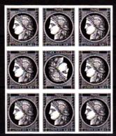 Cérès Bloc 9 X 0.20 € Non Dentelé Avec Tête-bêche, 170 Ans Du Premier Timbre De France 1849/2019 - Neufs