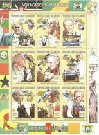 NIGER H/B  TEMA VIAJES DEL PAPA EN AFRICA  MNH  ** - Níger (1960-...)