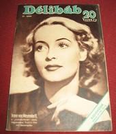 Irene Von Meyendorf DELIBAB  Hungarian May 1942 VERY RARE - Magazines