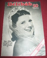 Jane Tilden DELIBAB  Hungarian May 1942 VERY RARE - Magazines