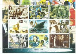 NIGER H/B  TEMA  ACONTECIMIENTOS DEL SIGLO XX   MNH  ** - Níger (1960-...)