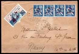 MAROC - Lettre De Casablance à Nancy Par Avion - Morocco (1891-1956)