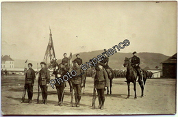 CPA Carte Photo Militaire Drapeau Fanion BCA Chasseur Alpin 1920 ? FRANCE ? - Régiments