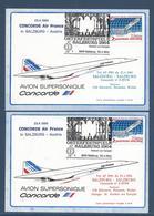 Autriche - Poste Aérienne - Concorde Air France - Salzburg Salzburg Et Salzburg Salzburg - 1984 - Sur Entier Postal - Poste Aérienne