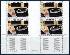 """MON 1982  """"les Poissons Noirs"""" Par G.Braque   N° YT 1348 ** MNH Bloc De 4 Coin Daté - Neufs"""