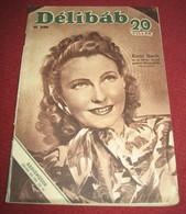 Karin Hardt DELIBAB  Hungarian July 1942 VERY RARE - Magazines