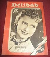 Karin Hardt DELIBAB  Hungarian September 1941 VERY RARE - Magazines