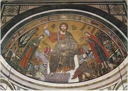 FIRENZE BASILICA DI S MINTOTO AL MONTE GESU CRISTO LA VERGINE E S MINIATO MOSAICO DEL 1297 - Firenze (Florence)