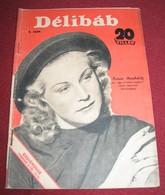 Karin Himboldt DELIBAB  Hungarian February 1942 VERY RARE - Magazines