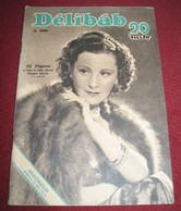 Lil Dagover DELIBAB  Hungarian April 1942 VERY RARE - Books, Magazines, Comics