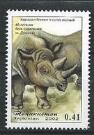 Tajikistan - 2002 - 40th Anniv Of Zoo Garden - ( Diceros Bicornis Michaeli ) - MNH. - Tajikistan