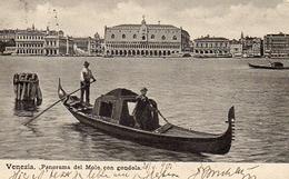 VENEZIA - Panorama Del Molo Con Gondola, 21.4.1900 - Venezia (Venedig)