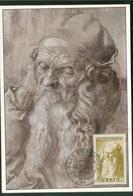 Carte Maximum - Albrecht Dürer (1471-1528) Alter Mann (Albertina Wien) - Autres