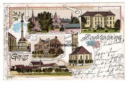 Gruss Aus Sonnenburg, Neumark, Slonsk, Schloss, Strafanstalt, Krankenhaus ...alte Litho Ansichtskarte 1901...bei Küstrin - Polen