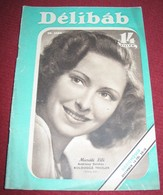 Muráti Lili DELIBAB  Hungarian December 1941 VERY RARE - Magazines