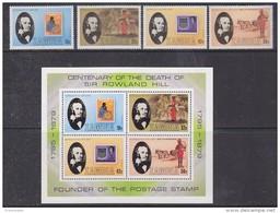 Zambia 1979 Sir Rowland Hill 4v + M/s ** Mnh (42556) - Zambia (1965-...)