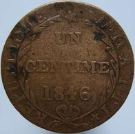 Haiti 1 Centime 1846 F - Haiti
