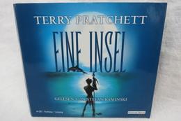 """4 Hörbuch-CDs """"Terry Pratchett"""" Eine Insel, Fantasy-Lesung, Gelesen Von Stefan Kaminski - Musik & Instrumente"""