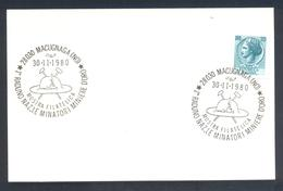 Italy 1980 Card: Minerals Mineralien Mineraux; Mining Bergbau; National Rally Miners Gold Mines - Mineralien