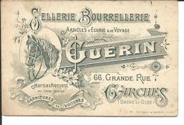 92 GARCHES Carton Publicitaire Sellerie Bourrellerie GUERIN - Garches
