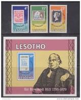 Lesotho 1979 Sir Rowland Hill 3v + M/s ** Mnh (42558) - Lesotho (1966-...)