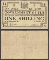 Fiji 1 Shilling 1942 (F-VF) Condition Banknote P-49b - Figi