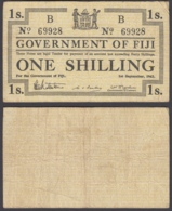Fiji 1 Shilling 1942 (F-VF) Condition Banknote P-49b - Fiji