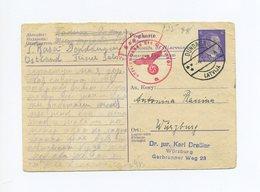 1944 Ostland / Lettland Zensierte Ostarbeiter-Ganzsache Antwortkarte P 310 A Echt Gelaufen Lettischer Stempel Dundaga - Entiers Postaux