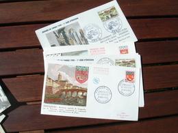 Lot De 9 , Fdc 1958 Enveloppe 1 Er Jour - 1950-1959