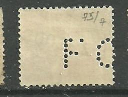 Perforé  F O 75  Indice  7  Sur Paix - France