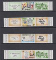Montserrat 1979 Sir Rowland Hill 4v  + Labels ** Mnh (42561) - Montserrat