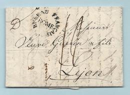 Département Conquis - Bureau Francais De Rome Pour Lyon - 1803 - Marcophilie (Lettres)