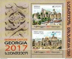 """GEORGIA / GEORGIEN.-  EUROPA 2017 -""""CASTILLOS - CASTLES - SCHLÖSSER"""".- HOJITA BLOQUE / SOUVENIR SHEET - 2017"""