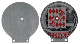 MONACO -- MONTE CARLO -- Petite Plaque Aluminium -- Monto Club De Monaco - Motos