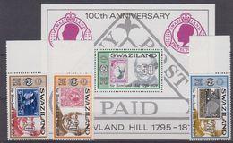 Swaziland 1979 Sir Rowland Hill 3v + M/s ** Mnh (42562) - Swaziland (1968-...)