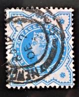 REINE VICTORIA 1887/900 - OBLITERE - YT 92 - MI 87 (BLEU) - 1840-1901 (Victoria)