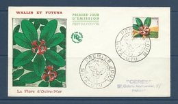Wallis Et Futuna 1958  Fdc Yvert 159  La Flore D'outremer - Montrouziera - Covers & Documents