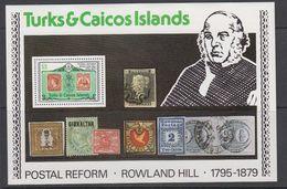 Turks & Caicos Islands 1979 Sir Rowland Hill M/s ** Mnh (42565) - Turks- En Caicoseilanden