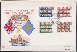 Grossbritannien 1979 MiNr.789 - 792 FDC Erste Direktwahlen Zum Europäischen Parlament ( D 2616 )günstige Versandkosten - FDC