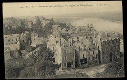 Angers - Panorama Pris Du Château Vers Le Quai Du Roi De Pologne - Angers