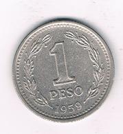 1 PESO 1959 ARGENTINIE /3744/ - Argentine
